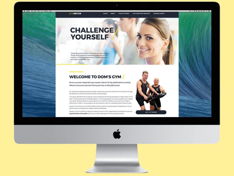 Website design for a Private Gym
