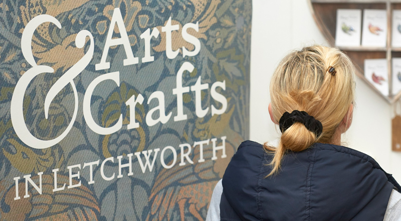 Image of Arts & Crafts in Letchworth exhibition design logo