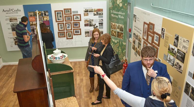 Image of visitors to Letchworth exhibition design