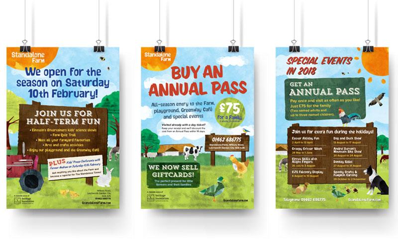 Poster designs for Standalone Farm