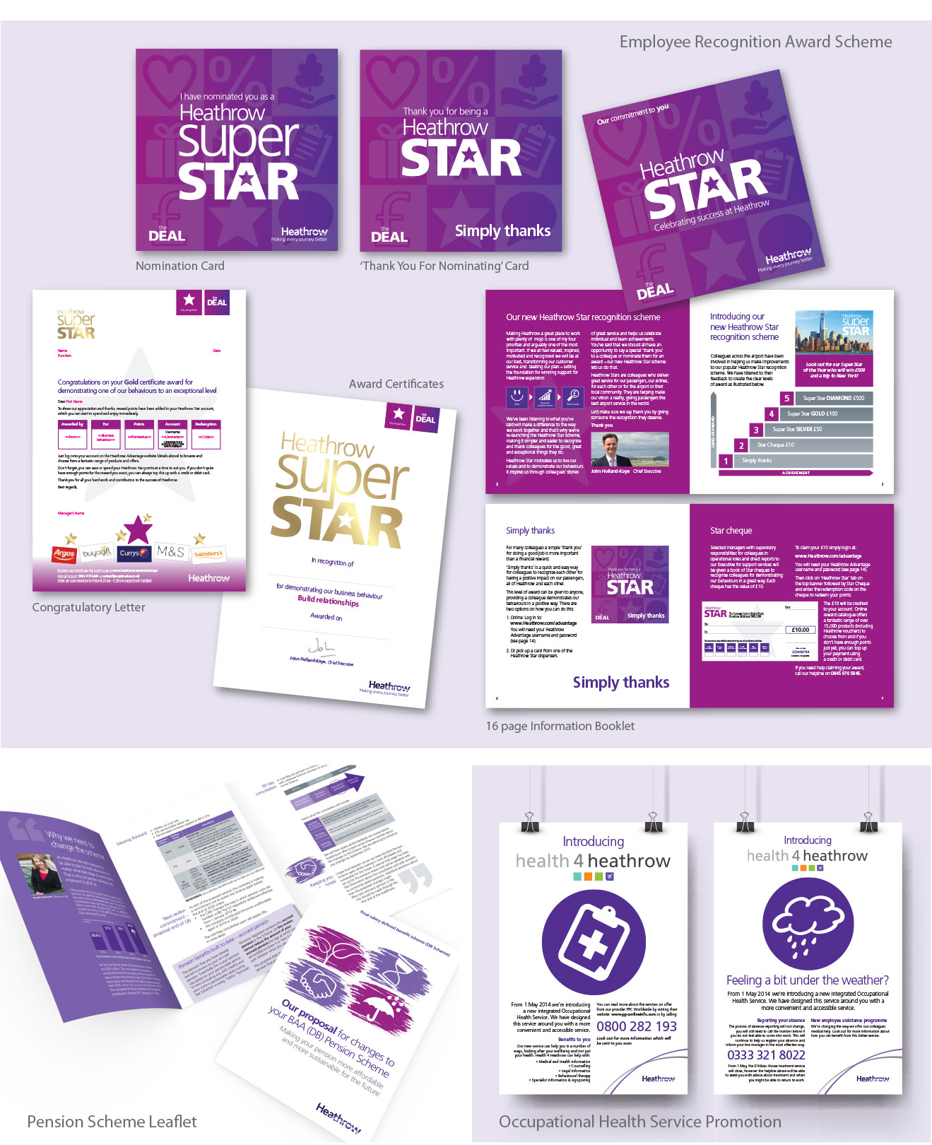 Example of internal comms showing the Heathrow Star award scheme