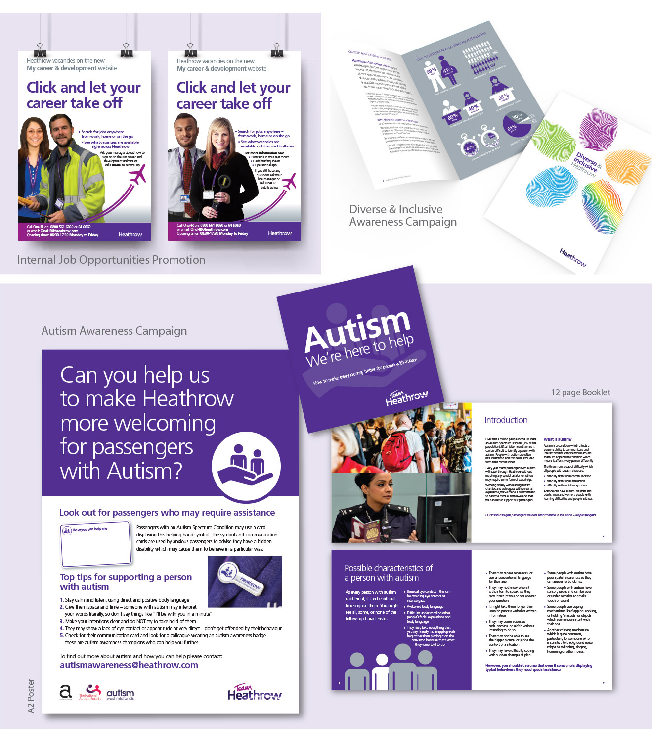 Example of internal comms showing employee engagement material